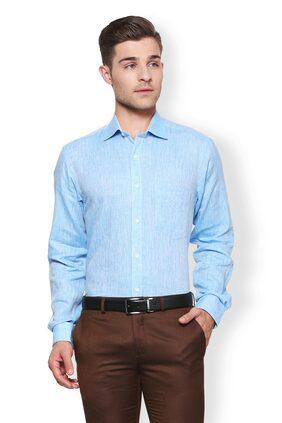 Van Heusen Men Slim Fit Formal Shirt - Blue