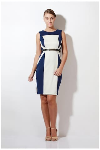 Blue Casual Heusen Lycra Polyester Dress Van and v5pqwWwZ