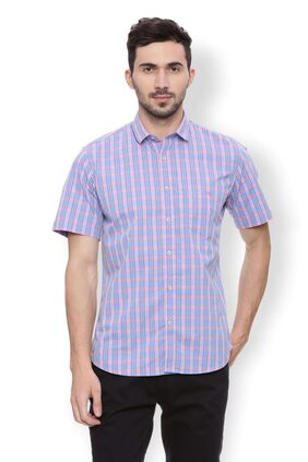 Van Heusen Men Slim Fit Casual shirt - Blue