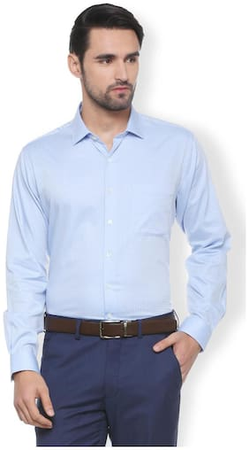 Men Super Slim Fit Solid Formal Shirt