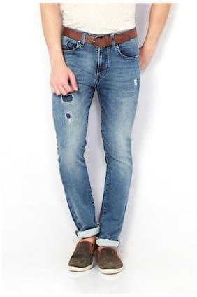 6cb609e4bd78 Van Heusen Men High Rise Tapered Fit ( Pop Fit ) Jeans - Blue