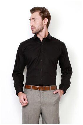 Van Heusen Cotton Slim Black Shirts
