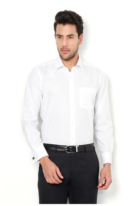 Van Heusen Men Regular Fit Formal Shirt - White