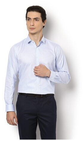 Van Heusen Men Slim Fit Formal Shirt - White