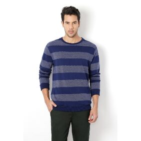 Van Heusen Cotton Regular Blue Sweatshirts & Hoodies