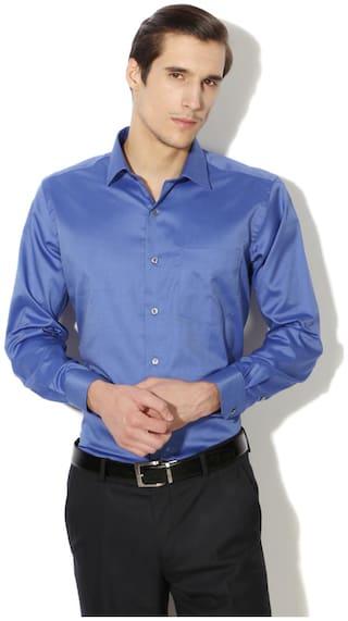 Van Heusen Men Regular fit Formal Shirt - Blue