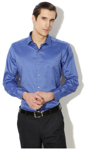 Van Heusen Men Regular Fit Formal Shirt - Blue