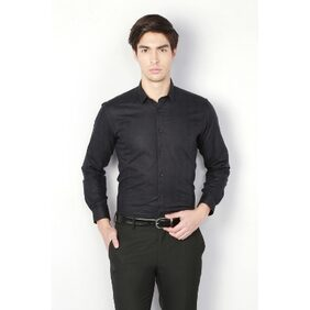 Van Heusen Cotton Slim Black Formal Shirts