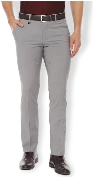 Van Heusen Men Slim fit ( Skinny fit ) Formal Trouser - Grey