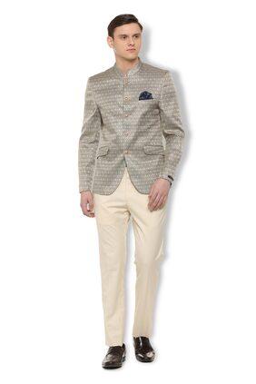 Van Heusen Men Blended Slim Fit Suit - Grey