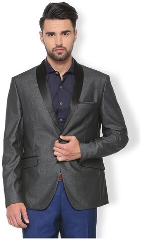 Van Heusen Men Blended Slim Fit Blazer - Grey