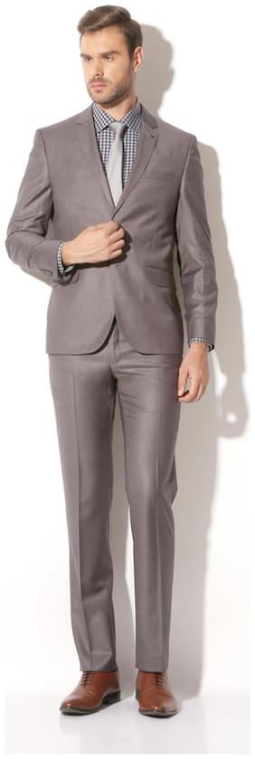 Van Heusen Men Viscose Slim fit Suit - Grey