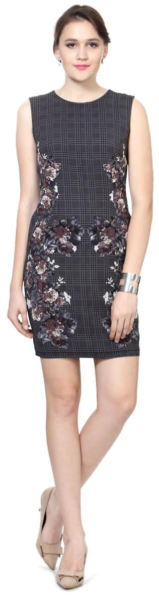 Van Heusen Grey Polyester Dress