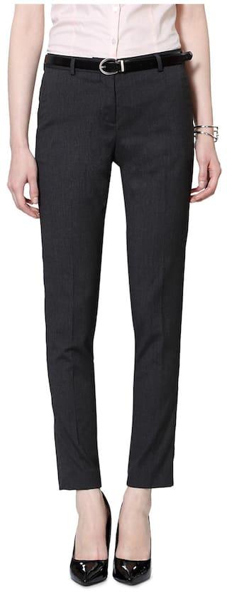 Van Heusen Grey Polyester Trouser