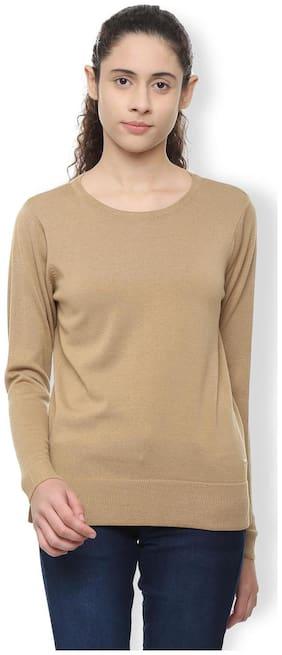 Van Heusen Women Modal Solid - Regular Top Brown