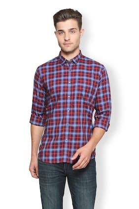 Van Heusen Men Slim Fit Casual shirt - Maroon