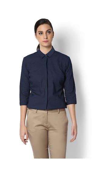 Heusen Shirt Navy Heusen Van Van Navy qSnwzHZvO