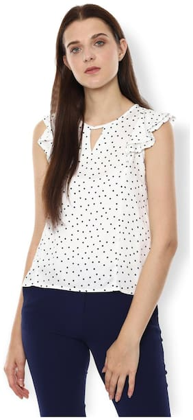 Women Printed Keyhole Top