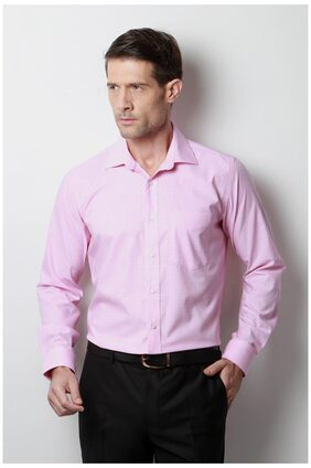 Van Heusen Men Regular Fit Formal Shirt - Pink