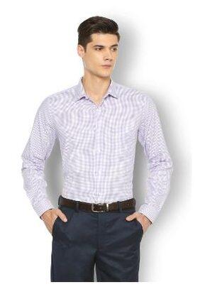 Van Heusen Men Slim Fit Formal Shirt - Purple