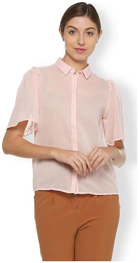 Van Heusen Peach Shirt