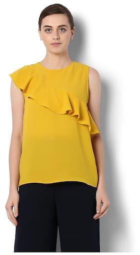Van Heusen Polyester Regular Fit Yellow Top
