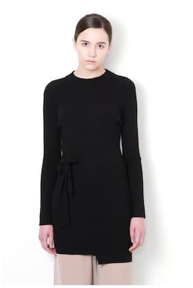 Van Heusen Women Polyester Solid - Regular Top Black