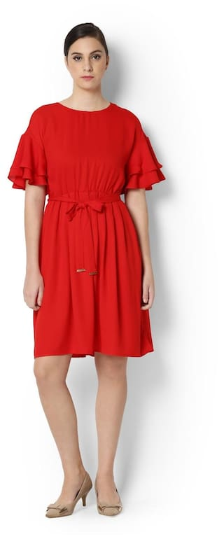 Heusen Van Dress Van Red Red Heusen Dress aqSTnra