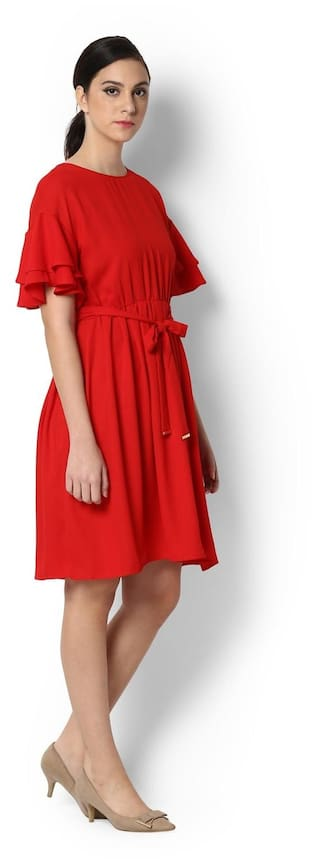 Van Van Heusen Dress Dress Red Dress Heusen Red Heusen Van Red wS70OxrSq