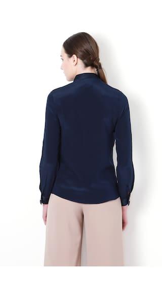 Casual Van Shirts Blue Heusen Regular Silk SSyBzWpIq