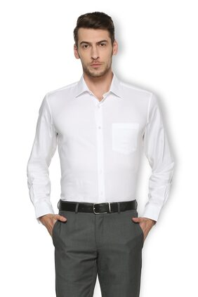 Van Heusen Men Super Slim Fit Formal Shirt - White