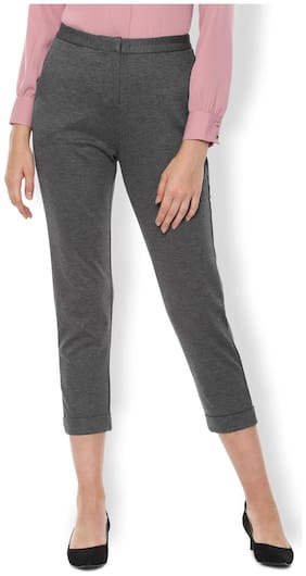 Women Self Design Regular Trousers