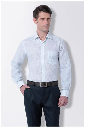 Van Heusen White Linen Slim Fit Formal Shirt