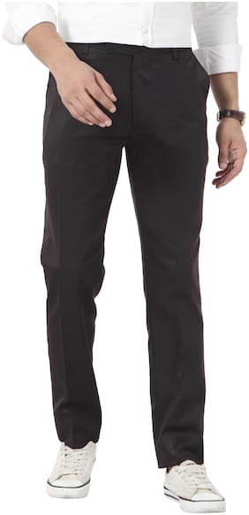 vandnam slim fit black trousers