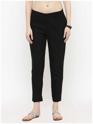 Varanga Black Solid pencil Pants