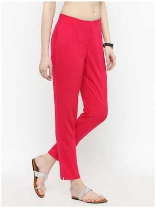 Fuchsia Pants Varanga Fuchsia Varanga Pencil Solid Solid Pants Pencil Varanga wPYqPRzTx