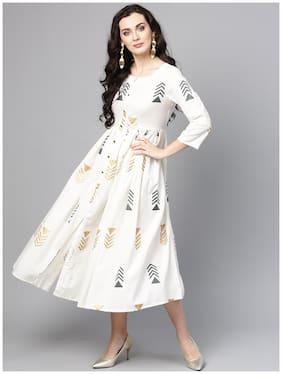 Women Printed Straight Kurti Dress
