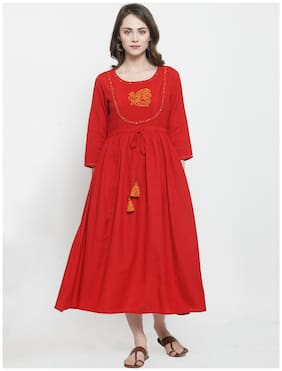Women Solid Straight Fusion Dresses