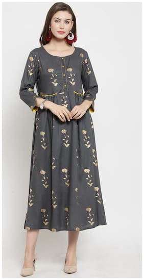 Women Floral Straight Fusion Dresses