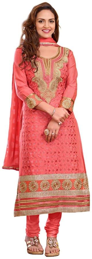 Shree Vardhman Women's Gazri cotton unstitched Straight Salwar Suit dress material