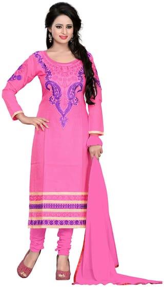 Shree Vardhman  Pink Cotton Dress Material