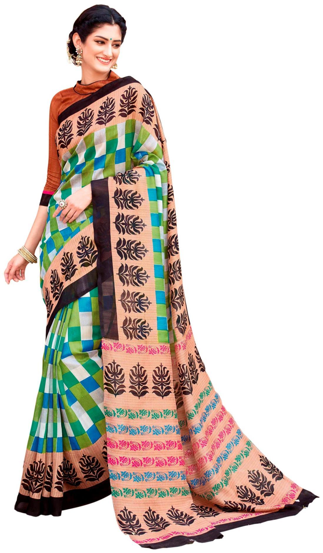 da1f573a9c4b2 Buy Varibha Universal Silk Casual Saree Yes at 86% off.