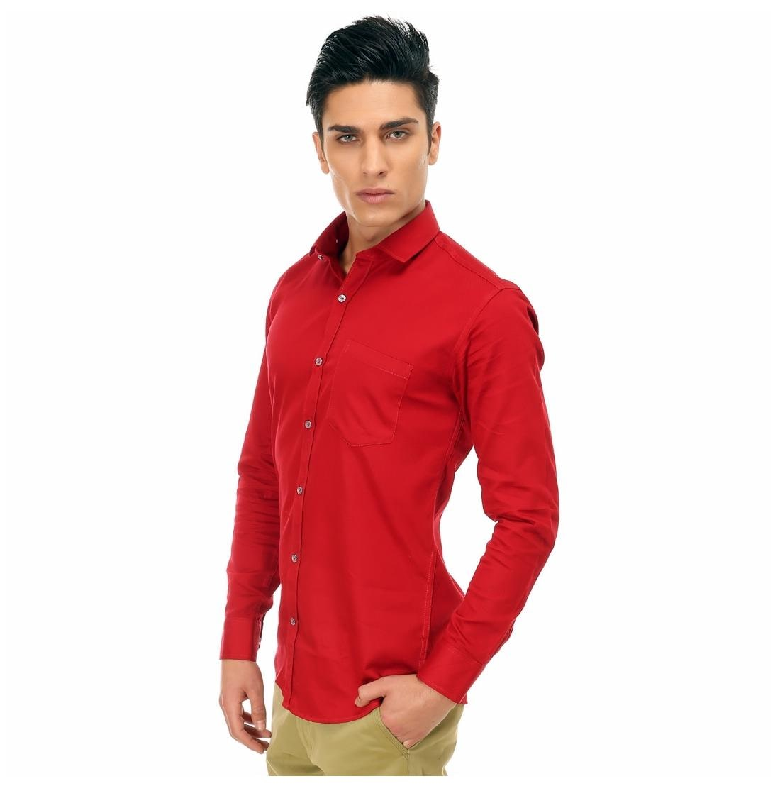 9e4ebbdde9f7 Buy Variksh Red Colored Cotton Casual Self Design Shirt For Men s Online at  Low Prices in India - Paytmmall.com