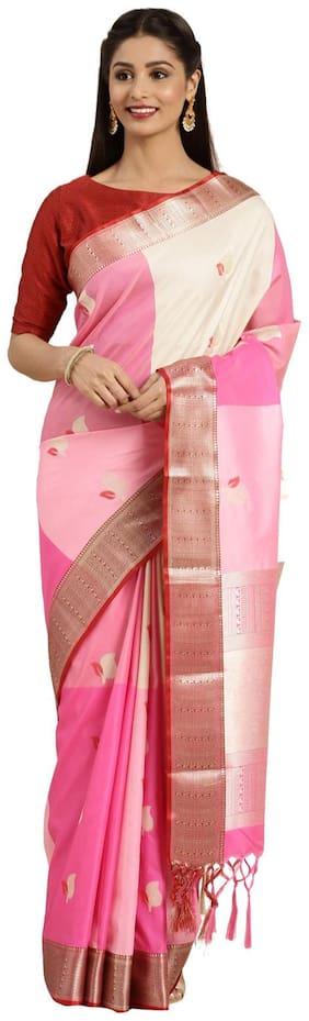 Varkala Silk Sarees Silk Universal Multi  Saree With Blouse
