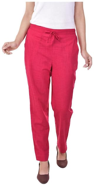 Vasavi Jaipur Solid Cotton Trouser Of Full Length With both side Pockets