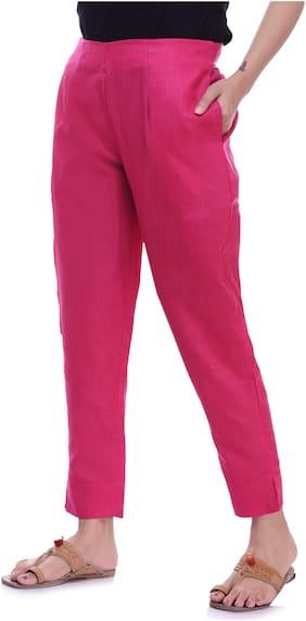 Vasavi Women Pink Slim fit Cigarette pants
