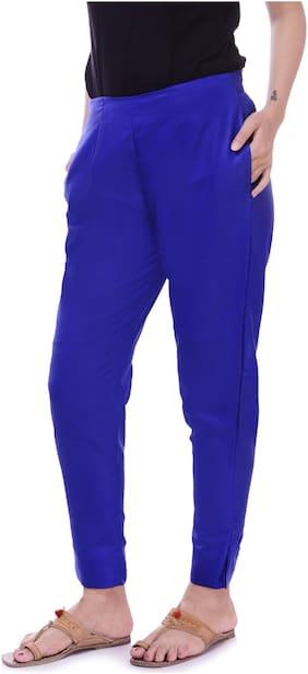 Vasavi Women Blue Slim fit Cigarette pants