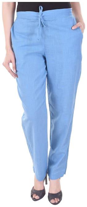 Vasavi Women Blue Slim fit Regular pants