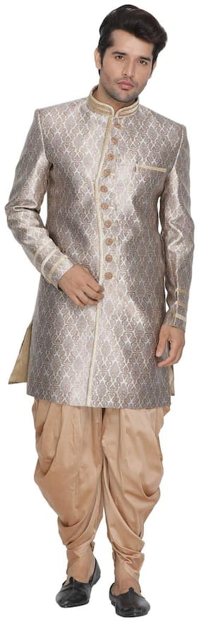VASTRAMAY Blended Medium Sherwani - Gold