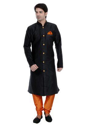 Vastramay Men's Linen Cotton Kurta and Pyjama Set